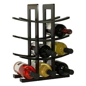 Oceanstar WR1132 12-Bottle Dark Espresso Bamboo Wine Rack from Oceanstar