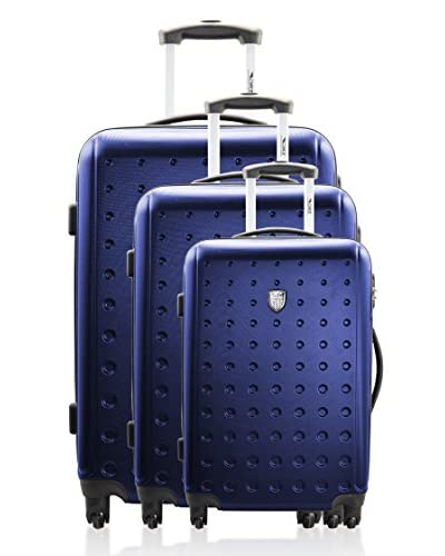 Geographical Norway Set 3 Trolley 4 Ruote Sao Paolo [Blu navy]