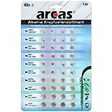 Arcas Pack de 40 piles bouton AG1-AG13