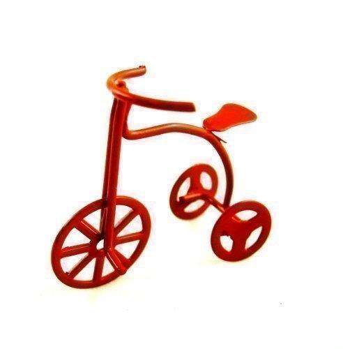 Kinder Dreirad Puppenhaus Miniatur Kinderzimmer Laden Zubehör Rot 6020