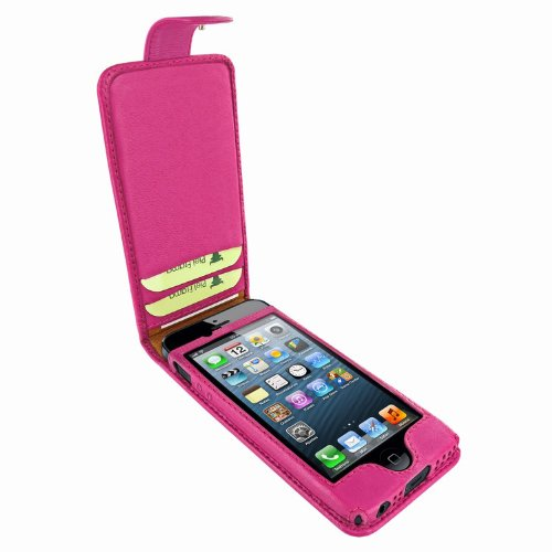 Special Sale Apple iPhone 5 / 5S Piel Frama Pink Leather Cover with Snap Closure
