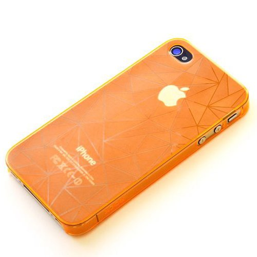 Orange ROCK dazzling serious case for Apple Iphone 4 4s