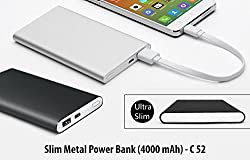 Avive slim metal power bank (4000mah) only silver and black