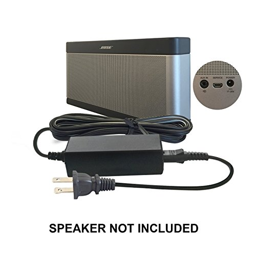 ABC Products® Replacement Bose 17V to 20V / 17 to 20 Volt Mains Battery Charger Adapter Adaptor Power Supply plug Cord for SoundLink I, II, III, 1, 2, 3 Wireless Bluetooth Mobile Portable Speaker etc (Bose Soundlink Mini Power Cord compare prices)