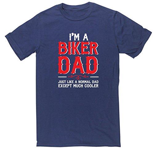 HippoWarehouse I'm a biker dad come un normale dad tranne molto cooler-Maglietta a maniche corte Blu navy Small