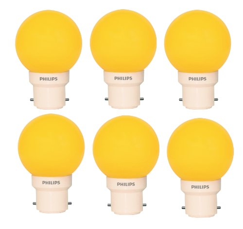 Philips Philips Deco Mini 0.5-Watt B22 Base LED Bulb (Yellow And Pack Of 6) (Orange)