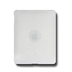 NuTou 88883 NuTouch Rubberized Mesh Snap On Crystal Hard Case - White for Apple iPad