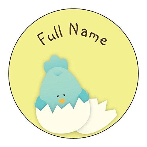 Vistaprint Yellow Birth Announcement Envelope Seals front-882935