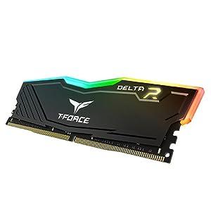 TEAMGROUP T-Force Delta RGB DDR4 16GB (2x8GB) 3000MHz (PC4-24000) CL16 Desktop Memory Module ram (Black) TF3D416G3000HC16CDC01 (Color: Black, Tamaño: 16 Gb)