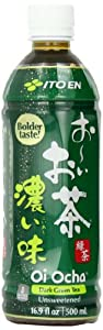 Ito En Tea Beverage, Unsweetened Oi Ocha Dark Green, 16.9 Ounce (Pack of 12)