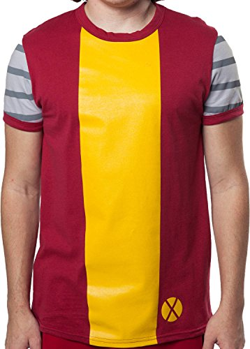 [Mighty Fine Men's Marvel Comics X-Men Colossus Costume Shirt Red 2XL] (Marvel Colossus Costumes)