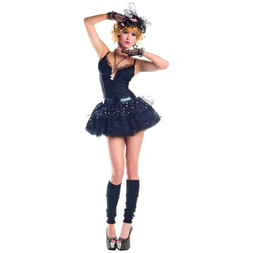 Party King Material Pop Star Women's 4 Piece Costume