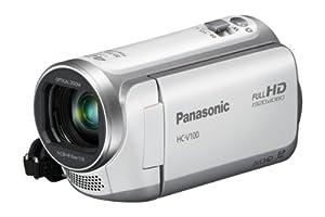 Panasonic HC-V100EG-W Full-HD-Camcorder (6,7cm (2,6 Zoll) LCD-Display, 34-fach opt. Zoom, 32mm Weitwinkel) weiß