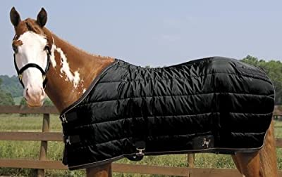 """Weaver Heavyweight Quilted Winter Stable Blanket (300 Grams) - Size:74"""" Color:Bl"""