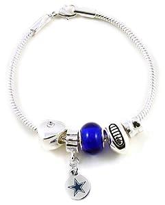 NFL Dallas Cowboys Bead Bracelet