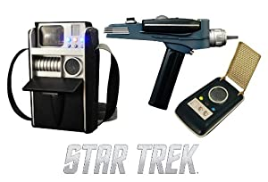Awesome Diamond Select Toys STAR TREK - LANDING PARTY ROLEPLAY PHASER, COMMUNICATOR, & TRICORDER 3-PACK