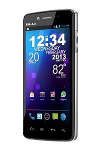 BLU Quattro 4.5 HD D450 Unlocked Phone with NVIDIA Tegra 3 Quad-Core Processor, Android 4.0, Super IPS LCD Touchscreen, Gorilla Glass, and 8MP Camera - U.S. Warranty (Black)