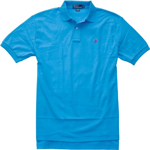 Polo Ralph Lauren Classic-Fit Interlock Polo (XX-Large, Cool Blue)