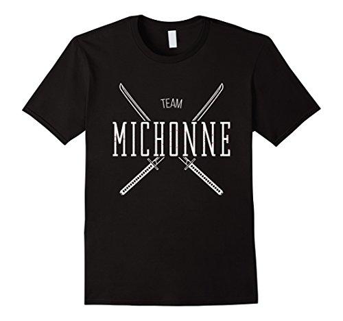 Men's Team Michonne T Shirt Large Black