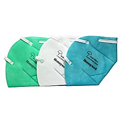 Honeywell PM 2.5 anti-pollution foldable face mask, Multicolor, Pack of 3