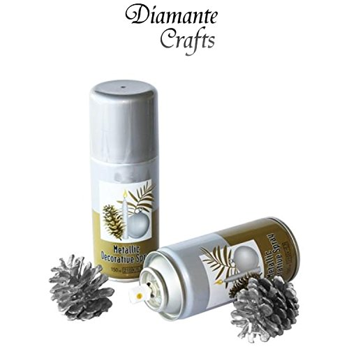metallic-paint-spray-lacquer-crafts-christmas-decorative-silver-gold-bronze-silver