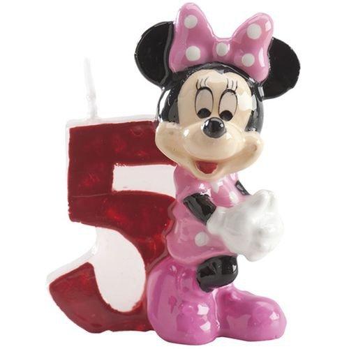 Bougie Anniversaire Minnie - Chiffre 5 - Taille Unique