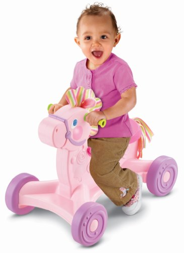 Fisher-Price Brilliant Basics Roll-Along Musical Pony - 1
