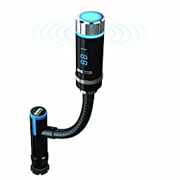 PowerLead Ckit PCK002 Wireless Bluetooth FM Transmitter with Car Kits Charger Adapter Cigarette Lighter Android Cell Phone, MP3 Players etc.