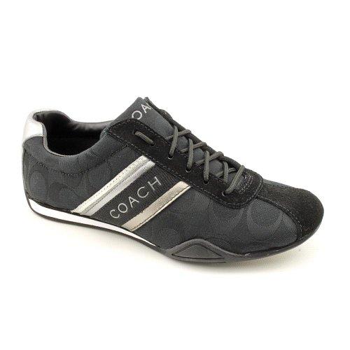 coach jayme signature black white tennis shoes