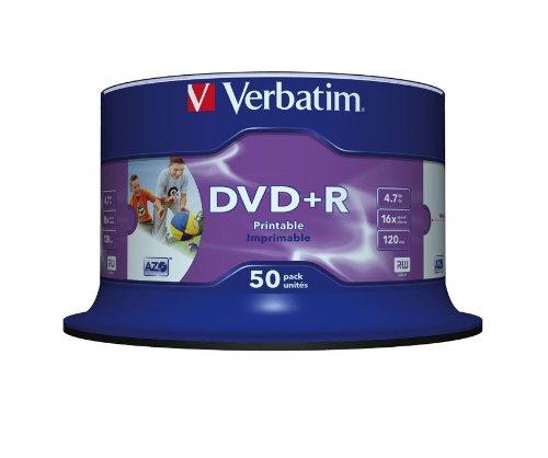 Verbatim (43512) : DVD+R 16x 50-pack : Printable Optical Media