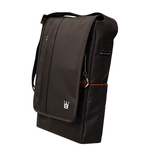 CaseCrown Vertical Multi-Pocket Messenger Bag (Chocolate Brown) for HP Mini 110-1030NR 10.1-Inch Netbook