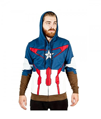 Extra Large Captain America Suit Up Fleece Hoody (XL) (Captain America Hoodies For Men compare prices)