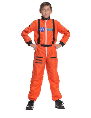 Astronaut Orange Child 6-8 Kids Boys Costume