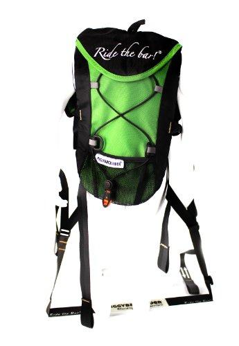 Piggyback Rider NOMIS Deluxe Standing Child Carrier System With 1L Hydrapak Bladder and Carry Bag Green