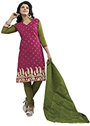 CHINTAN TEXTILES Ethnicwear Women's Dress Material(Pink_Free Size)