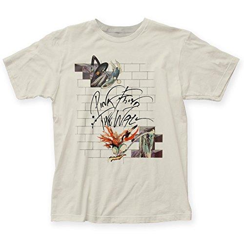 """Pink Floyd-Mens moglie &-Maglietta, motivo: """"Teacher, con angoli elasticizzati Bianco vintage Small"""