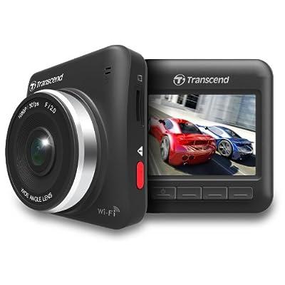 Transcend WiFi対応ドライブレコーダー 300万画素Full HD画質 160°広視野角 DrivePro 200 吸盤タイプのマウント付属 / TS16GDP200M-J