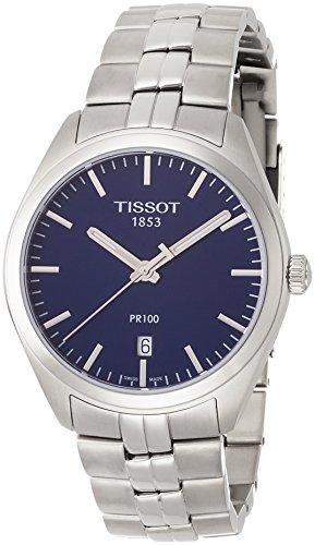 Tissot PR 100 Blue Dial Stainless Steel Quartz Men's Watch T1014101104100 (Tissot Blue Dial Mens Watch compare prices)