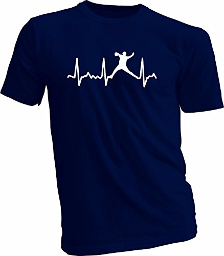Baseball Heartbeat Pitcher, Catcher, Batter T-Shirt, Adult XL, Navy Pitcher (Pitcher Tshirt compare prices)