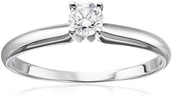 14k White Gold 1/4 Diamond Engagement Ring