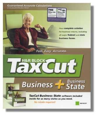 2005 TaxCut Business Federal + State H&R Block Tax Cut