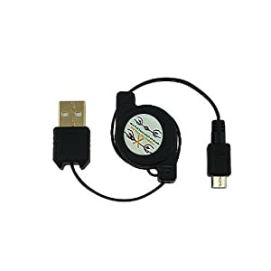 SANOXY Universal Retractable USB Data Cable with Micro USB Plug (For Palm, BlackBerry, Motorola, LG, Samsung, Nokia and More)