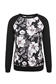FINEJO Women Girls Fashion Floral Ros…
