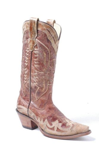 Corral Boot� Distressed Crackle Wingtip for Wo