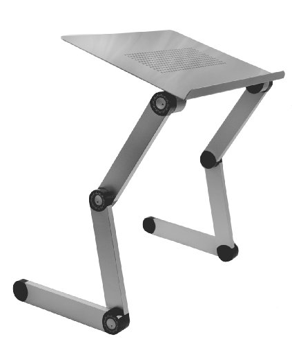 """SojitekSilver Adjustable Folding Ventilated Laptop Notebook Tablets Pc Ipad Table Up To 17"""" / Portable Bed Tray Book Stand"""