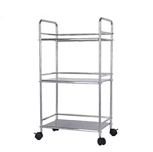 Epg Life 3 Tier Stainless Steel Microwave Cart Stand Multifunctional Rolling Kitchen Carts With
