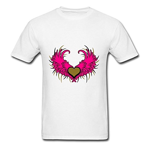Men Angel Wings With Heart Color Custom-made Vogue Casual T Shirt Shirts Size