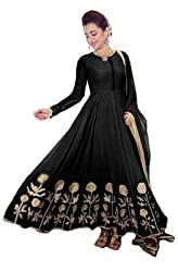 vaankosh fashion Women's bollywood Style blue Georgette designer anarkali dress materials/ Wedding wear Dress Material / Bollywood Style Salwar Kameez (Latest Collection)