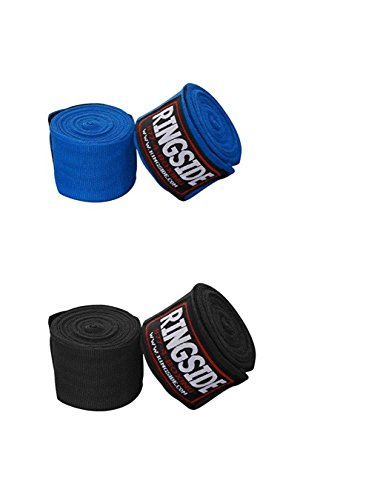 Ringside Mexican-Style Boxing Handwraps , 180-inch (Black/Blue)