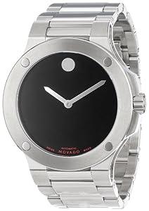 Movado Men's 606290 SE Extreme Stainless-Steel Bracelet Black Dial Watch